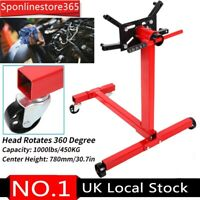 Heavy Duty Swivel Transmission Engine Gearbox Mount Support Floor Stand 450KG