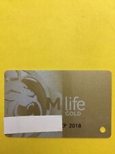 New listing M Life Gold Casino Slot Players Card Exp 9/18