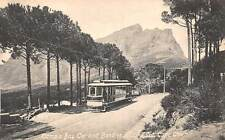CAPE TOWN, SOUTH AFRICA ~ CAMP'S BAY TROLLEY ON KLOOF ROAD ~ c. 1904-14