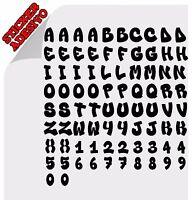 Personalizza il Tuo Alfabeto Lettere Adesive e numeri Sticker Adesivo Decal  2CM
