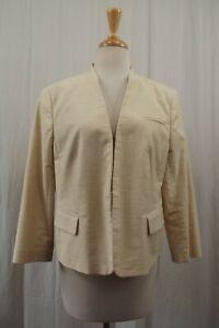NEW Ann Taylor Womens Blazer Sz 14 Jacket Open Front NWT Cream Dress Suit