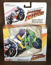 Vintage 1995 Maisto Power Rider Motorcycle Motorized Die Cast NOS