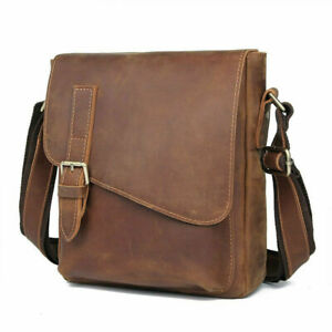 Retro Genuine Leather Shoulder Messenger Bag for Men Cross Body Bag Satchel TOTE