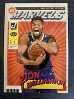 2019-20 Donruss Zion Williamson Net Marvels Rookie RC #4 Pelicans insert