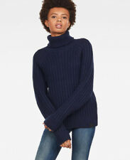 G-Star Raw Ave Turtle Neck / Mock Chunky Knit Jumper - Navy / UK L