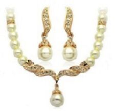 pearl necklace beads with earring