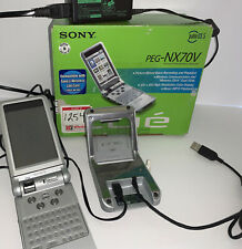 Sony Clie PEG-NX70V/U -Palm OS 5 Working/With Dock/New Battery Selling **AS IS**