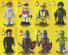 Cb Character Building Micro Figures Series 1 - Qty of 8 (Htf and/or Rare) - New