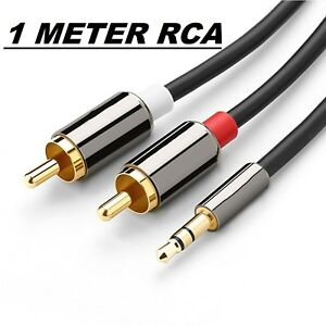 AUX Auxiliary 3.5mm Audio Male to 2 RCA Y Male Stereo Cable Cord MP3 iPod 1M~5M