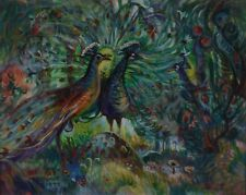 "Gordon Kit Thorne 1896-1981 Peacock Painting 24x30"" Canada Listed"