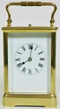 Antique Classic French Brass & Bevelled Glass 8 Day Repeater Carriage Clock