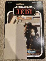 Vintage Star Wars ROTJ 1983 REBEL COMMANDO 77 back card back only POP intact