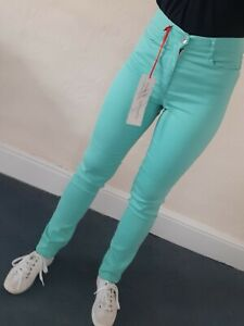 Amazing Woman Turquoise Denim Jeans Slim Leg, Size 10/34 NEW with tags