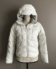 The North Face Women's 600 Fill Goose Down Puffer Hooded Jacket Coat White XS