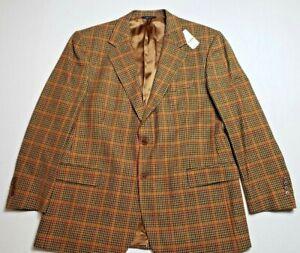 Brooks Brothers Blazer Size 46 Reg Tweed Padded Shoulders NWT