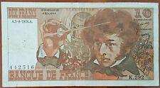 Billet 10 francs Hector BERLIOZ 5 - 8 - 1976 FRANCE K.292