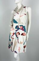 Chloe White Blue Pink Silk Dress 4 US 36 FR 40 IT S Lined Runway Auth France