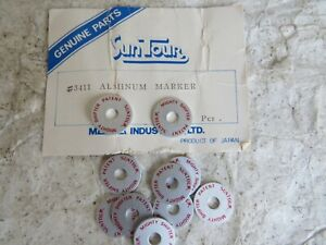 2 SUNTOUR  MIGHTY THUMB SHIFTERS TOP WASHERS 6/7 SPEED MOUNTAIN BIKE VINTAGE ATB
