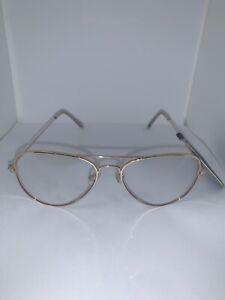 FOSTER GRANT Blue Light Glasses MaxBlock 419323 Gold Aviator Frame