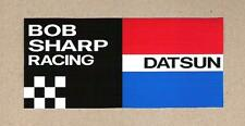 Bob Sharp Racing Datsun Sticker, Vintage Sports Car Racing Decal IMSA, 240Z, 510