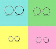NOSE RING STERLING 925 SILVER 0,6MM THIN PIERCING HOOP CHOOSE 6MM,8MM,10MM SIZE