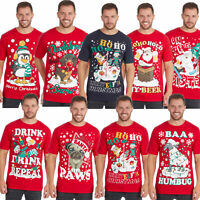 Men Novelty Slogan Funny Christmas Xmas Top Tshirt Joke Rude Tee Plus Size S-5XL