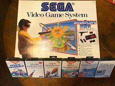Sega Master System- SegaScope 3d(1987) Original Box and Packaging with Six Games