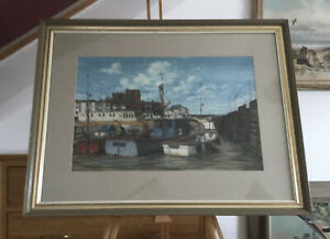 Colin Bradley Pastel Drawing of Broadstairs Harbour