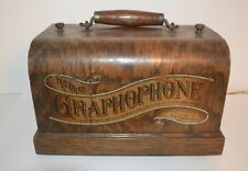 """1897 COLUMBIA """"Q""""  CYLINDER PHONOGRAPH w/NICKEL PLATED BASE PLAYS 2-MIN WAX"""