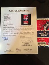 1/1 SIGNED GAME 3 ST. LOUIS-GAME 5 WORLD SERIES TICKET-DAVID ORTIZ MVP-FULL JSA