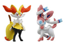 Set of 2 Takaratomy - MC-026 Sylveon & MC-020 Braixen - Pokemon Action Figures