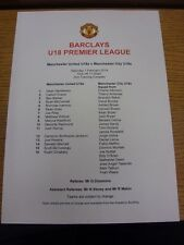 01/02/2014 Manchester United YOUTH V Manchester City Youth [a Carrington] (sing