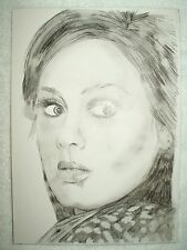 A4 Charcoal Sketch Drawing Adele Laurie Blue Adkins C