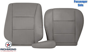 For 98-07 Toyota Land Cruiser -Passenger Side Complete Leather Seat Covers Gray