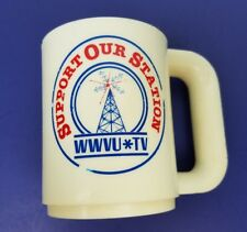 WWVU TV Am Pro cup plastic Support Our Station WVU Vintage
