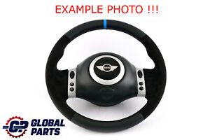 BMW Mini Cooper R50 R53 NEW Black Leather Sport Steering Wheel Multifunction