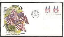 US SC # 1519 Crossed Flags FDC. Fleetwood Cachet. 1