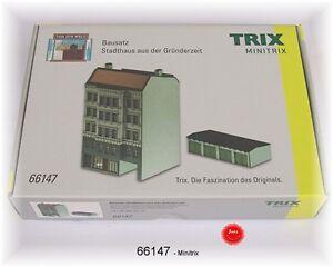 TRIX 66147 Minitrix Spur N Bausatz Stadthaus Hamburg Laser Cut  #NEU in OVP#