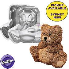WILTON BIRTHDAY PARTY SUPPLIES 3D STAND UP TEDDY BEAR CAKE PAN BAKING TIN