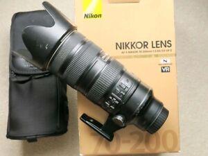 Nikon AF-S 70-200mm f/2.8 G ED VR II & BOX CASE HOOD CAPS  -FREE POST