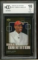 2003-04 UD Victory #101 LeBron James Rookie Card BGS BCCG 10 Mint+