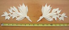2x Shabby Chic Decorative Furniture Moulding Large Leaves - Chalk Paint