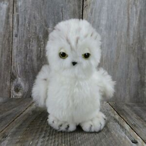 Vintage Owl White Stuffed Animal Bird 1981 Dakin Snow Barn Forest Made in Korea