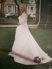 Wedding Dress Size 12 with bridesmaid dresses ages 8-9 7-8 4-5