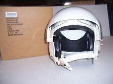 DUAL Visor Flight JET FIGHTER Helmet LARGE Gentex w/pads, ear cups au