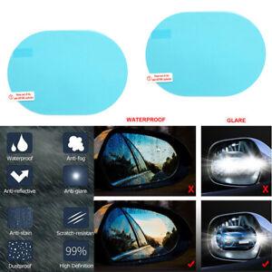 2x Car Rear View Mirror Waterproof Mist Anti-Fog Rainproof Glass Protective Film
