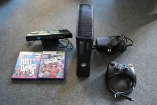Microsoft Xbox 360 S 250GB Black Console With Kinect, HDMI and 2 Games