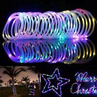 100 LED Solar Rope Tube Fairy String Lights Waterproof Xmas Garden Decor Lamp 1