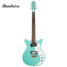 NEW Danelectro '59XT Classic Electric Guitar Dark Aqua with Wilkinson Tremolo