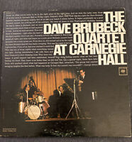 The DAVE BRUBECK Quartet at Carnegie Hall 2x Vinyl LP Records, C2L 26, 1963 MONO